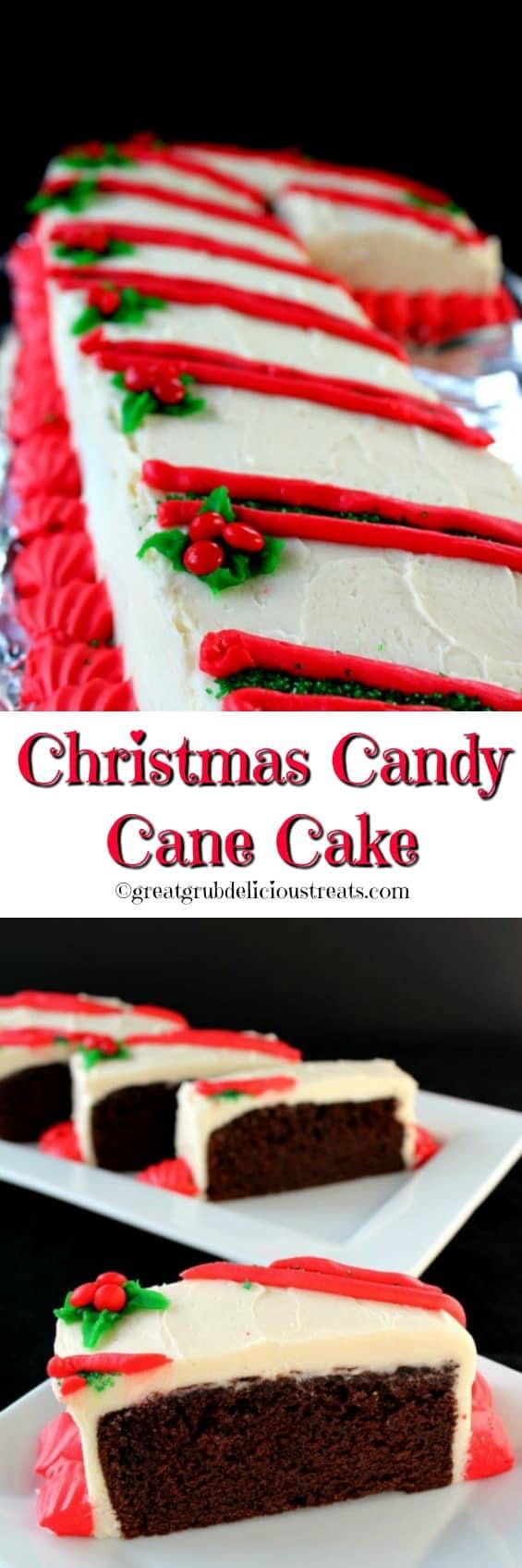 Christmas Candy Cane Cake