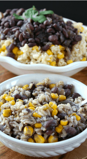 Cilantro Lime Rice with Black Beans and Corn