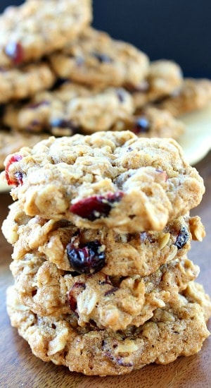 Oatmeal Walnut Cranberry Cookies