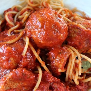 Turkey Meatball Spaghetti