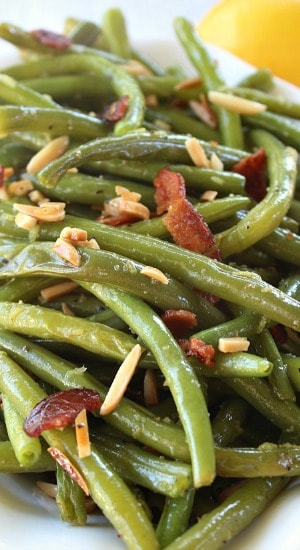 Lemon Nutty Bacon Green Beans