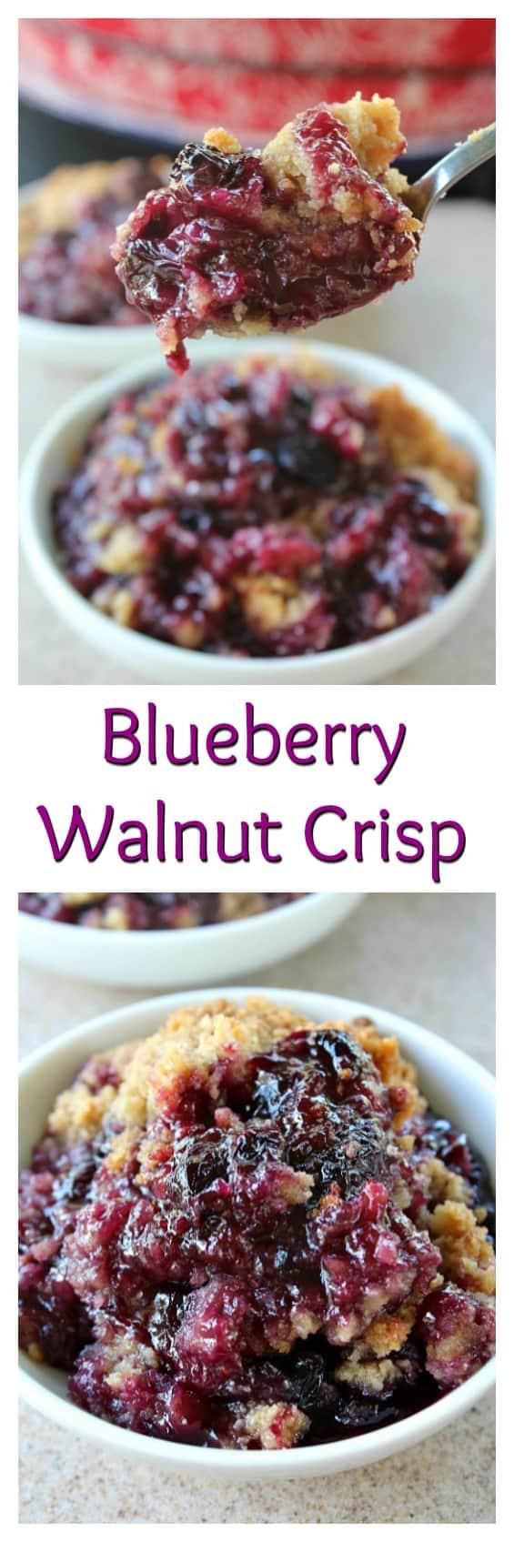 Blueberry Walnut Crisp