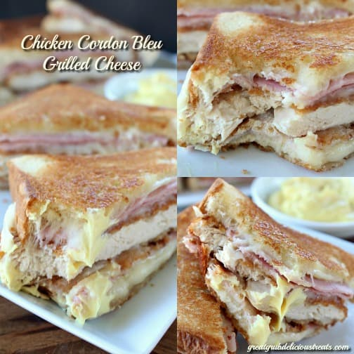 Chicken Cordon Bleu Grilled Cheese
