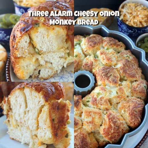 Three Alarm Cheesy Onion Monkey Bread