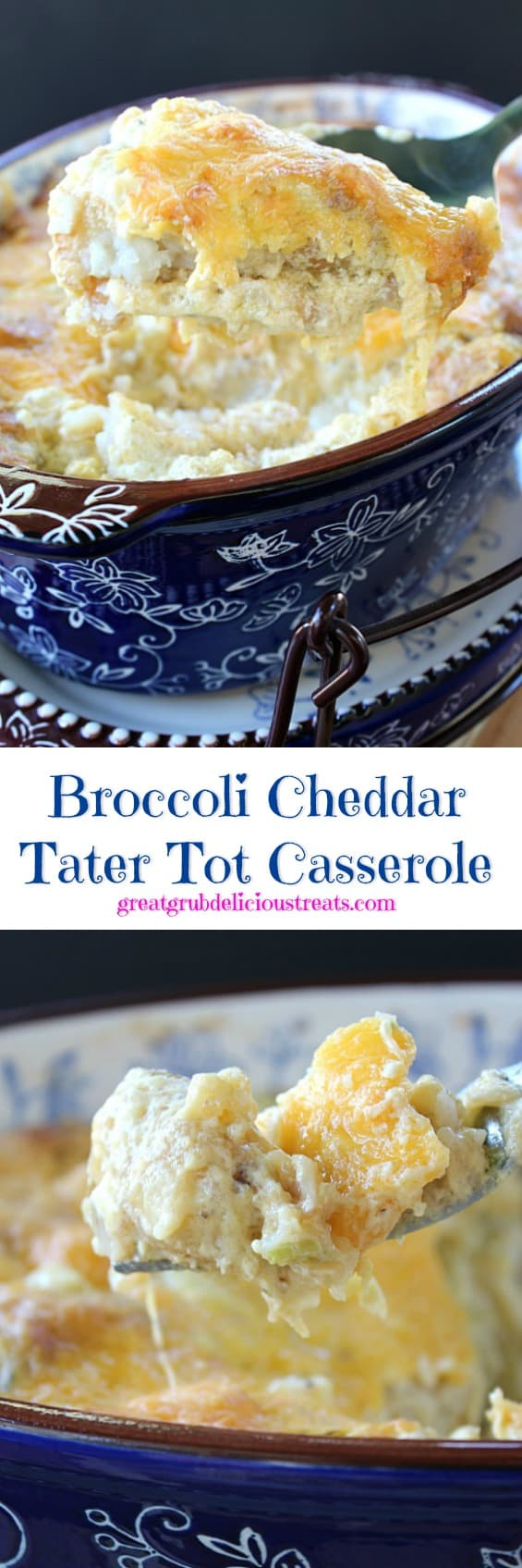 Broccoli Cheddar Tater Tot Casserole