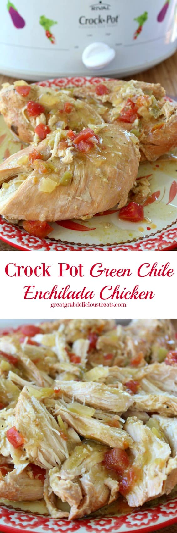 Crock Pot Green Chile Enchilada Chicken