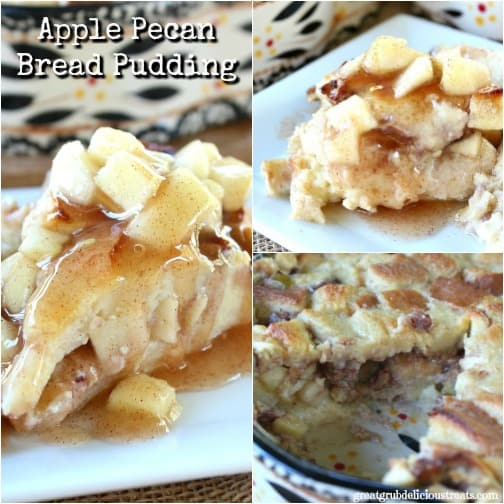 Apple Pecan Bread Pudding