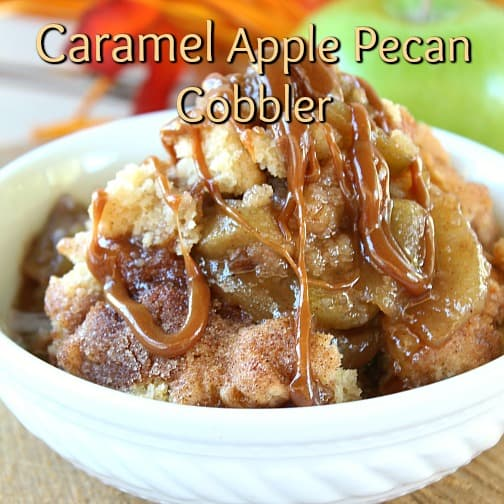 Caramel Apple Pecan Cobbler