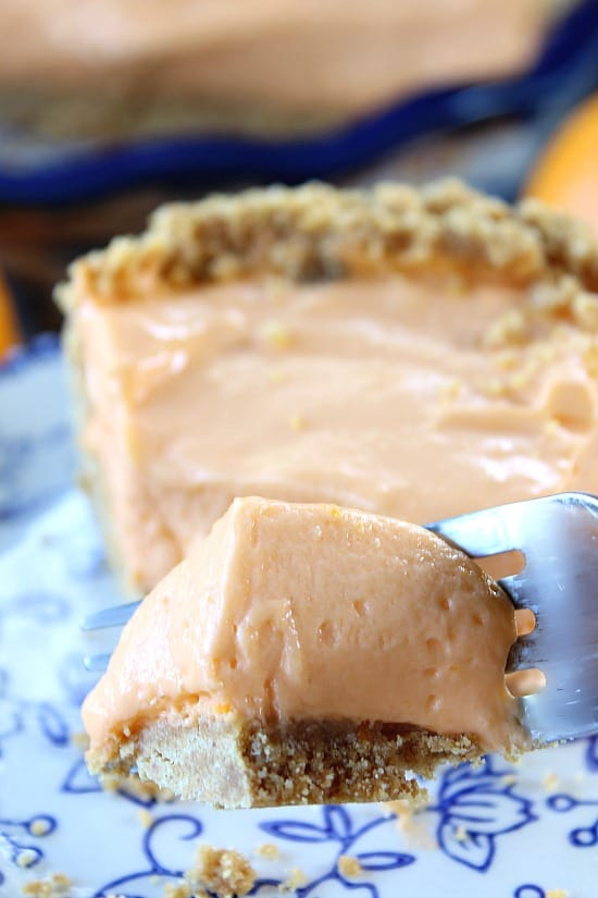 Orange Cream Cheese Pie