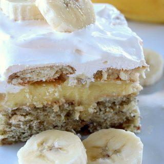 Banana Poke Cake
