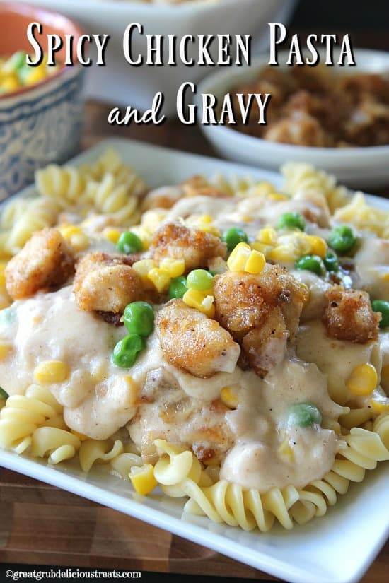Spicy Chicken Pasta and Gravy