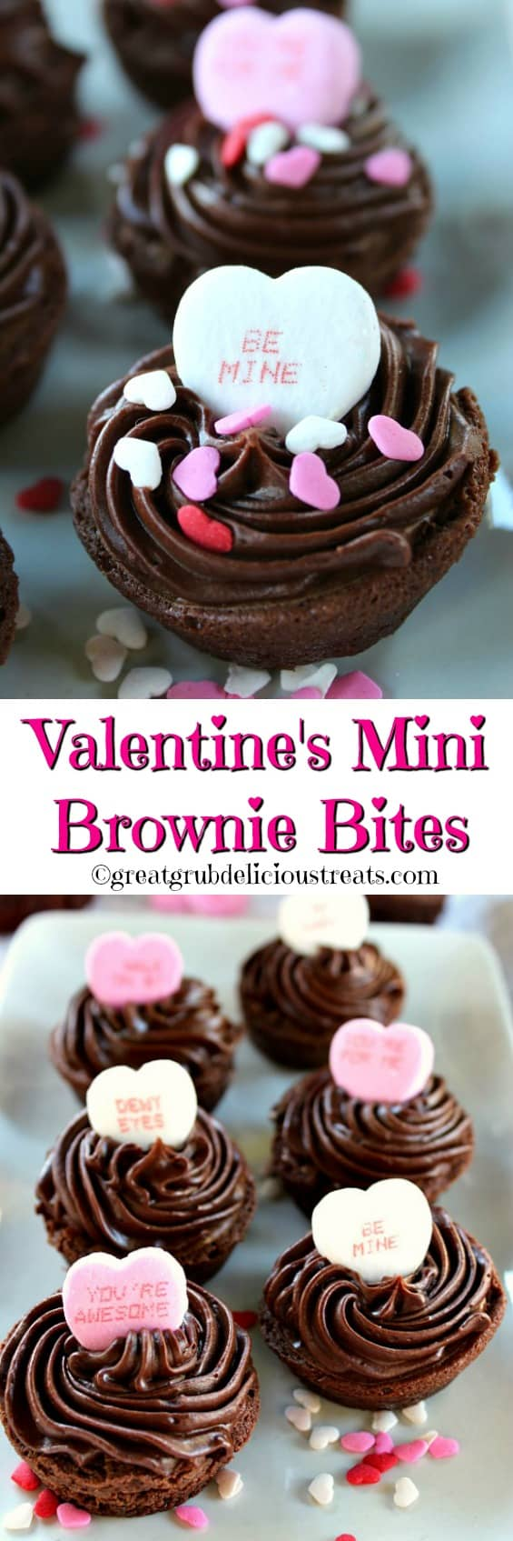 Valentine's Mini Brownie Bites