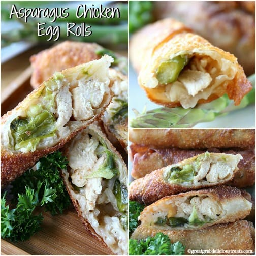 Asparagus Chicken Egg Rolls