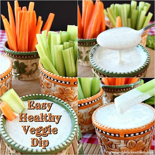 Easy Healthy Veggie Dip Great Grub Delicious Treats