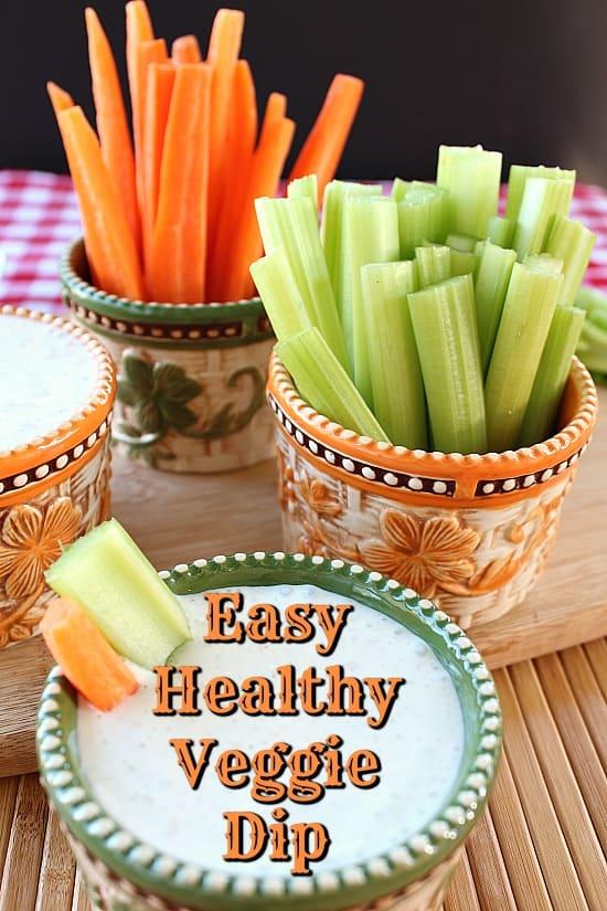 Easy Healthy Veggie Dip