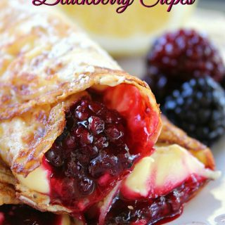 Cream Cheese Lemonade Blackberry Crepes