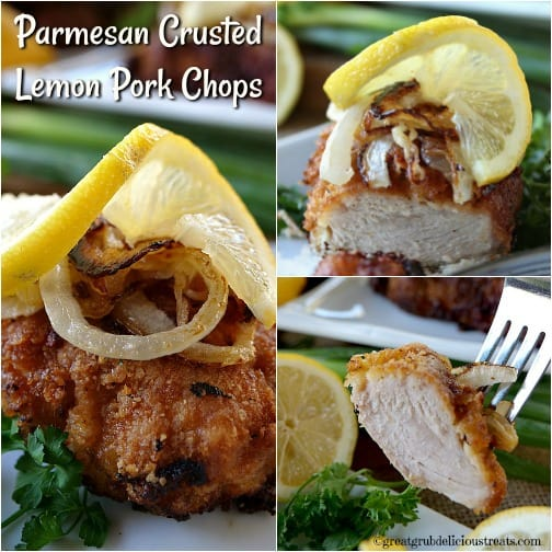 Parmesan Crusted Lemon Pork Chops