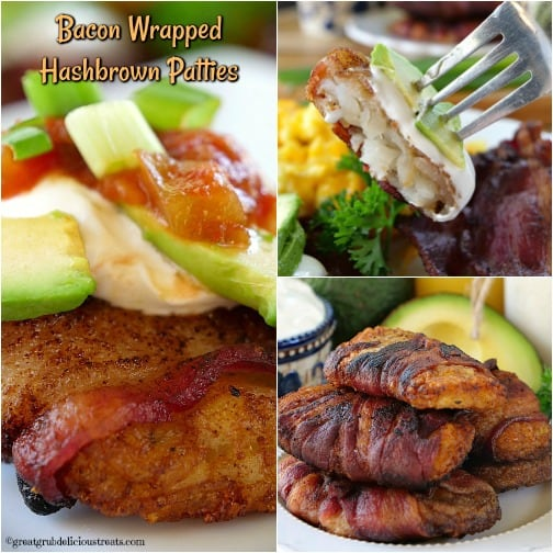 Bacon Wrapped Hashbrown Patties