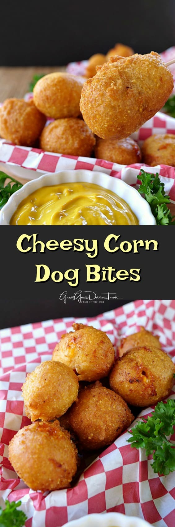 Cheesy Corn Dog Bites