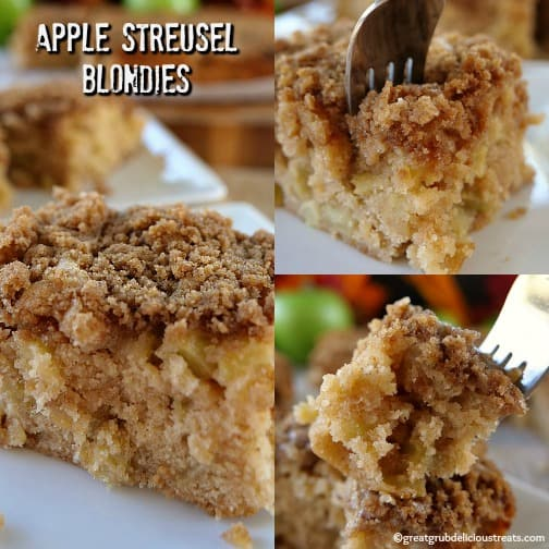Apple Streusel Blondies
