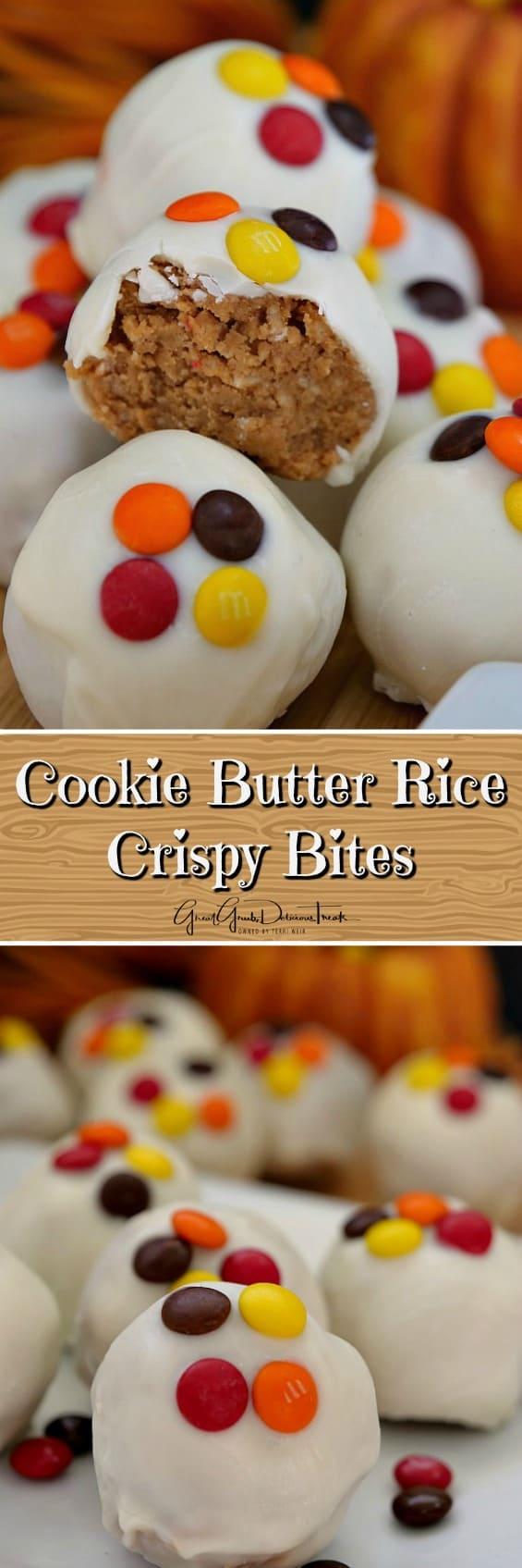 Cookie Butter Rice Crispy Bites