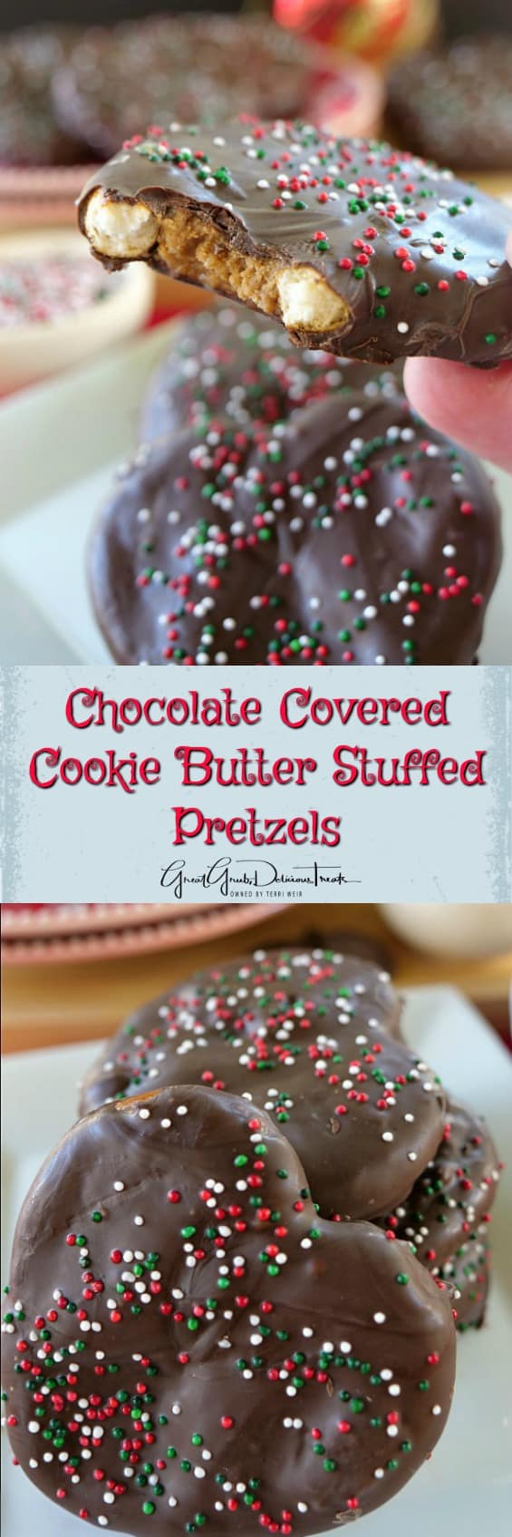 Chocolate Covered Cookie Butter Stuffed Pretzels