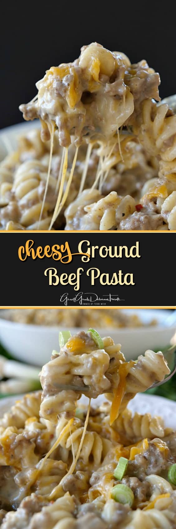 Cheesy Ground Beef Pasta