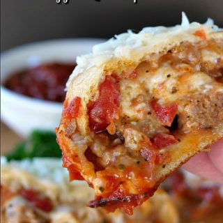 Hot Italian Sausage Pizza Roll Ups
