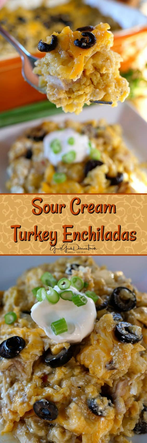 Sour Cream Turkey Enchiladas