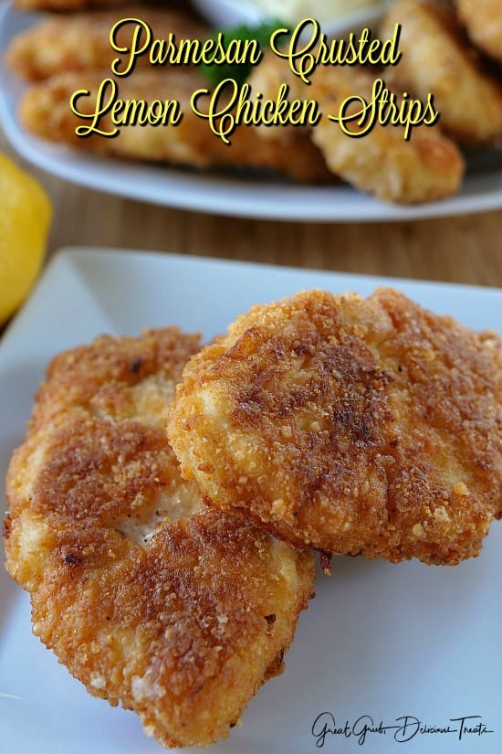 Parmesan Crusted Lemon Chicken Strips