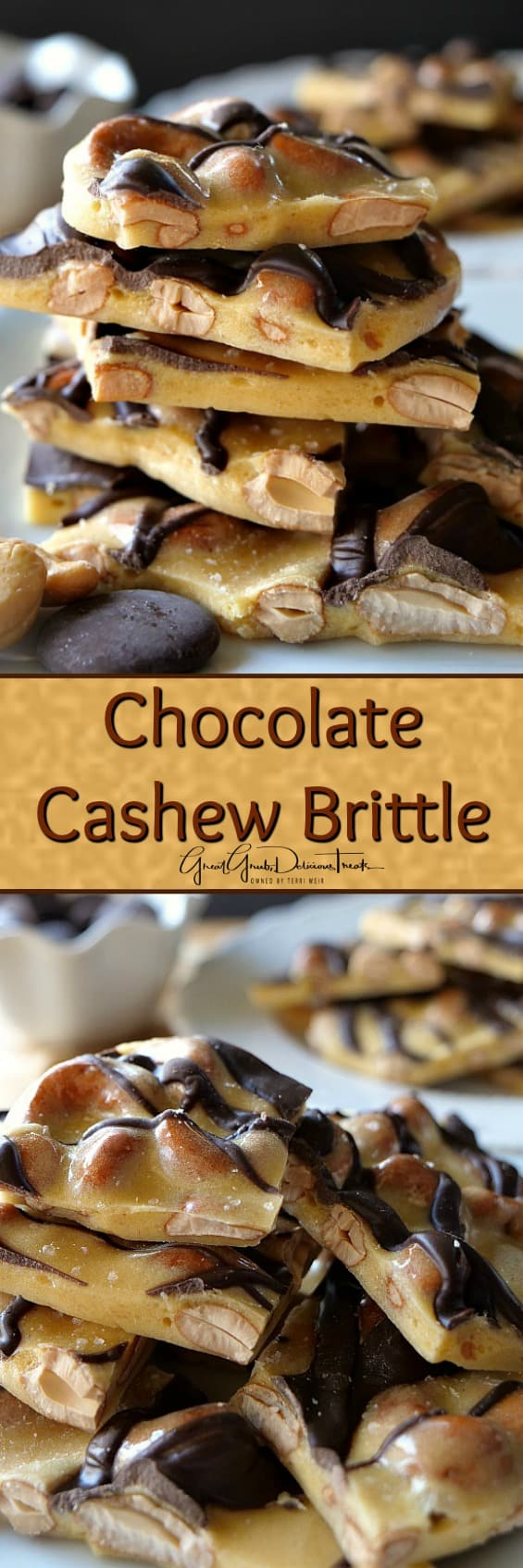 Chocolate Cashew Brittle