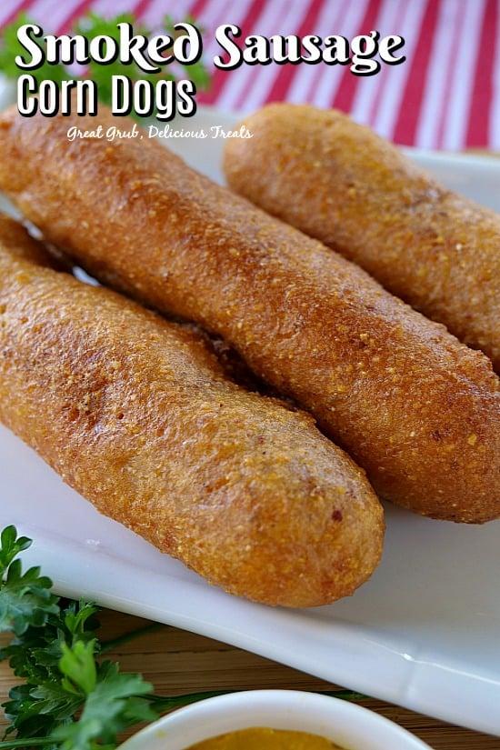 Smoked Sausage Corn Dogs - Great Grub