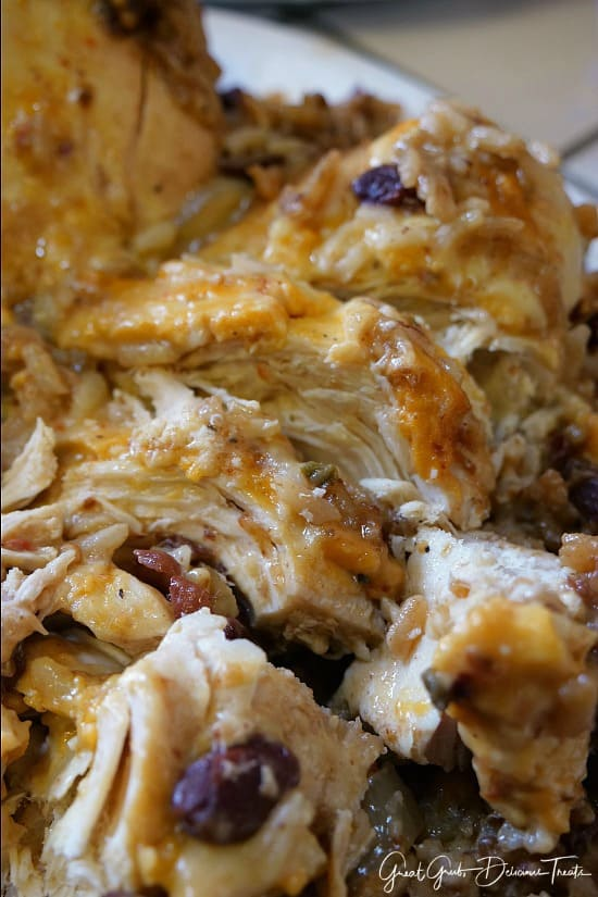 Crock Pot Cheesy Chicken Red Beans and Rice