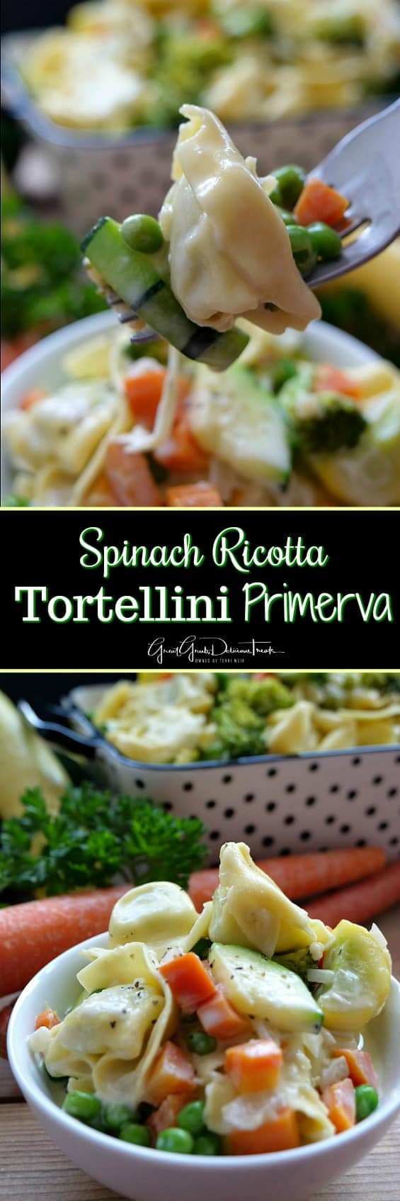 Spinach Ricotta Tortellini Primavera