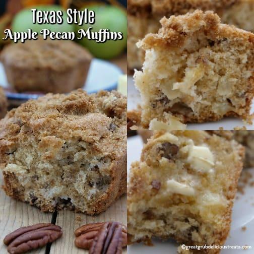 Texas Style Apple Pecan Muffins