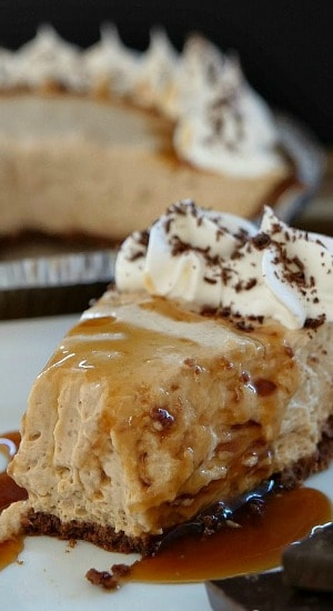 Caramel Macchiato Cream Cheese Pie