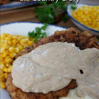 Chicken Fried Steak with Country Gravy