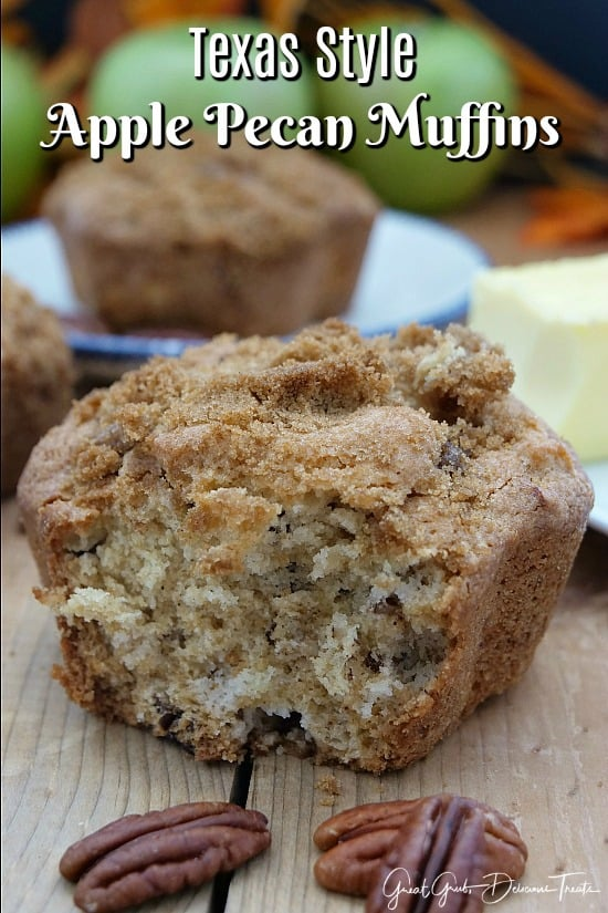 Texas Style Apple Pecan Muffins - Great Grub, Delicious Treats