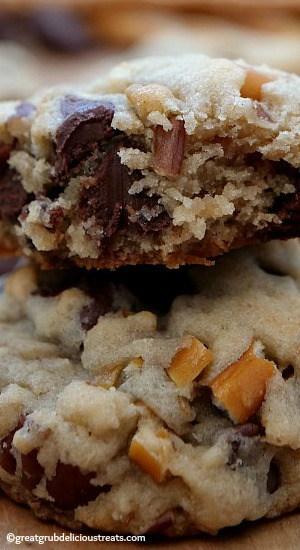 Chocolate Chip Pecan Pretzel Cookies