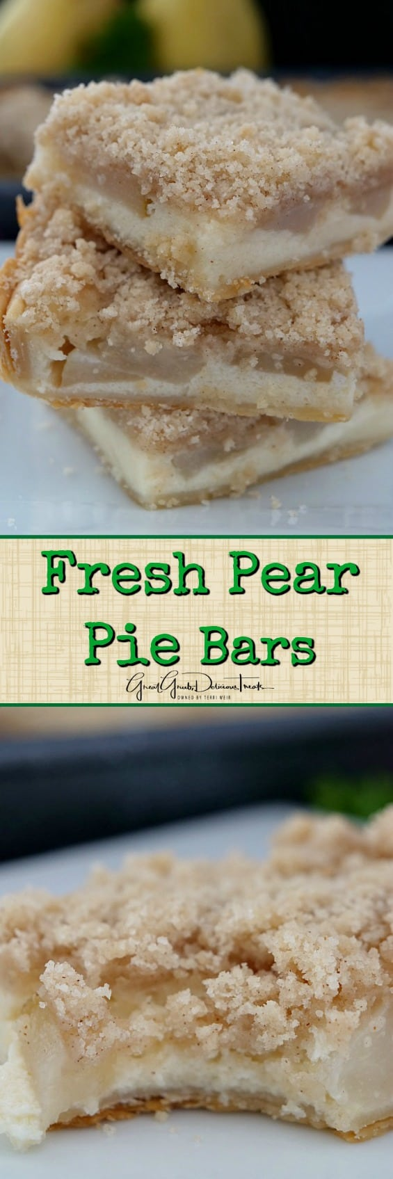 Fresh Pear Pie Bars