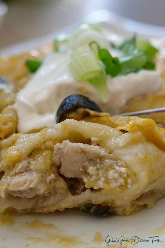 Green Chile Pork Enchiladas