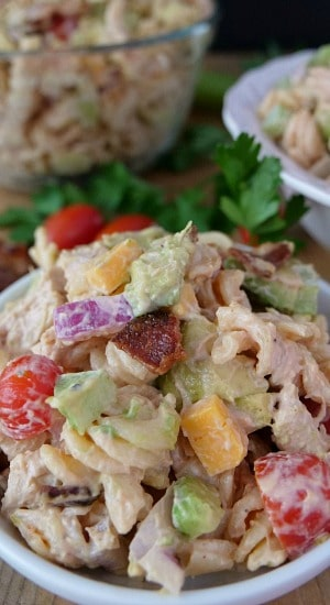 Barbecue Chicken Bacon Pasta Salad
