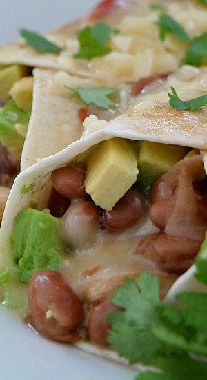 Hatch Chicken Burritos
