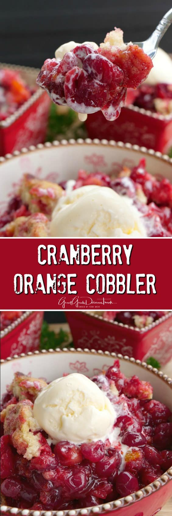 Cranberry Orange Cobbler