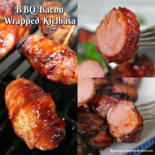 BBQ Bacon Wrapped Kielbasa