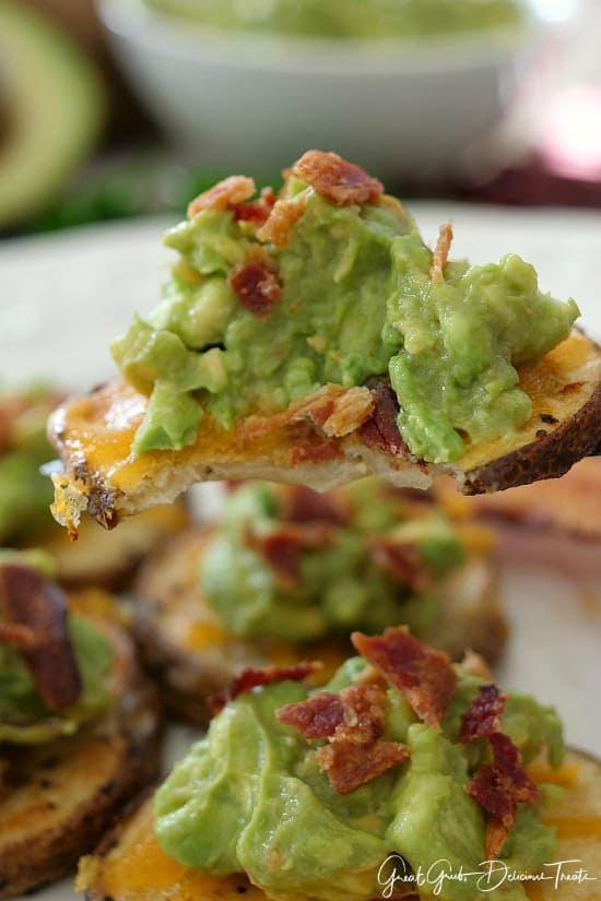 Avocado Bacon Potato Bites