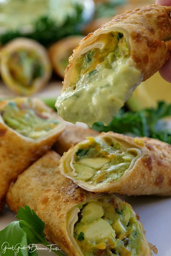 Bacon Avocado Egg Rolls