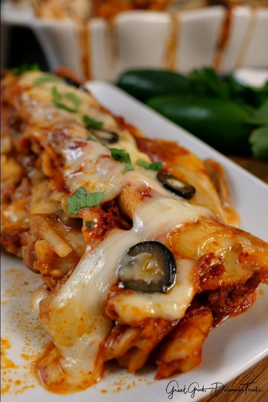 Cheesy Rib Eye Enchiladas