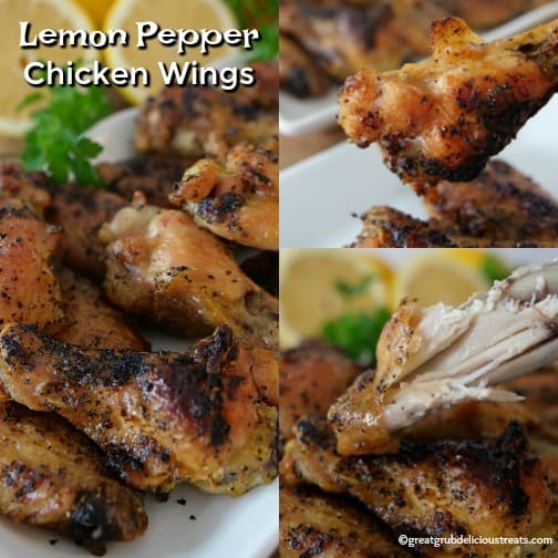 These Lemon Pepper Chicken Wings are deliciously flavored with lemon pepper seasoning, baked to perfection and are crispy.