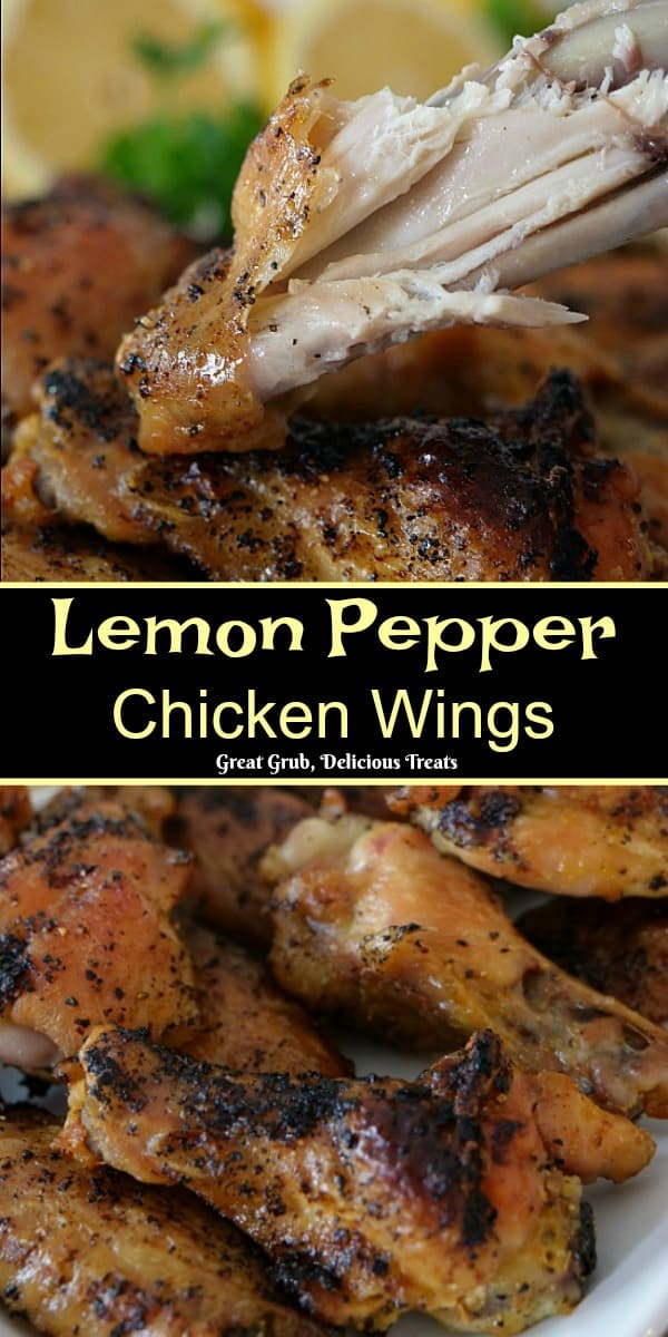 These Lemon Pepper Chicken Wings are baked, crispy, deliciously flavored with lemon pepper seasoning, baked to perfection.